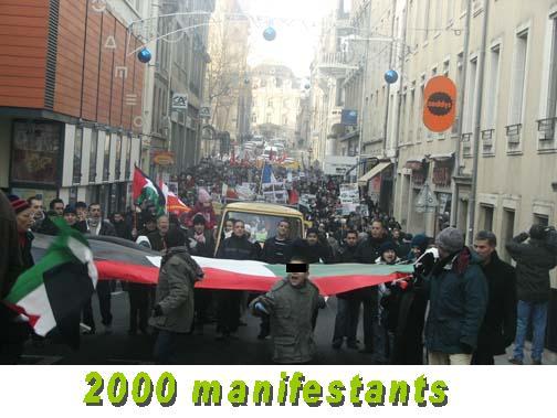 Manifestation Gaza à Nancy 10 janvier 2009